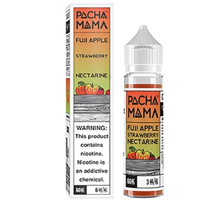 Pachamama Fuji Apple Strawberry Nectarine Vape Juice by Charlie's Chalk Dust - 60ml